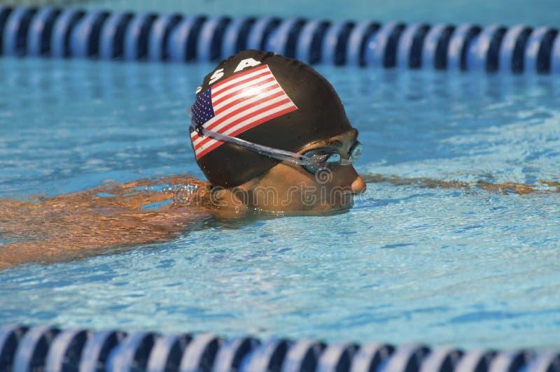 Amerykańska Męska pływaczka obraz royalty free