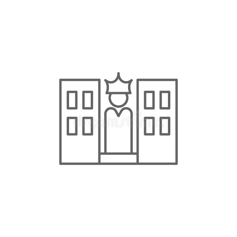 Amerykańska miasto konturu ikona Znaki i symbole mog? u?ywa? dla sieci, logo, mobilny app, UI, UX ilustracji