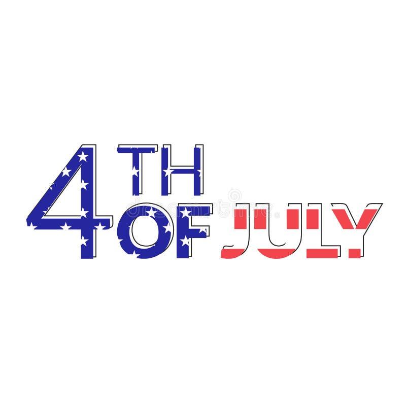 Amerykańska niezależność 4th Lipiec ilustracja wektor