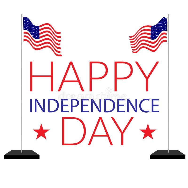 Amerykańska niezależność 4th Lipiec ilustracji