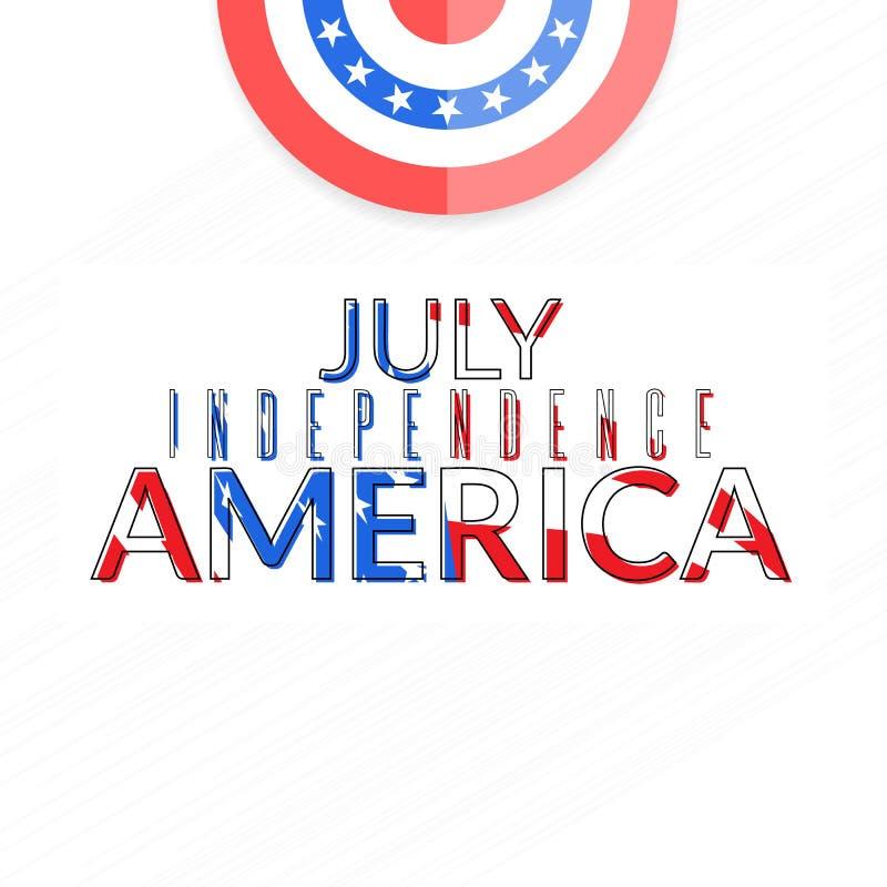 Amerykańska niezależność 4th Lipiec royalty ilustracja
