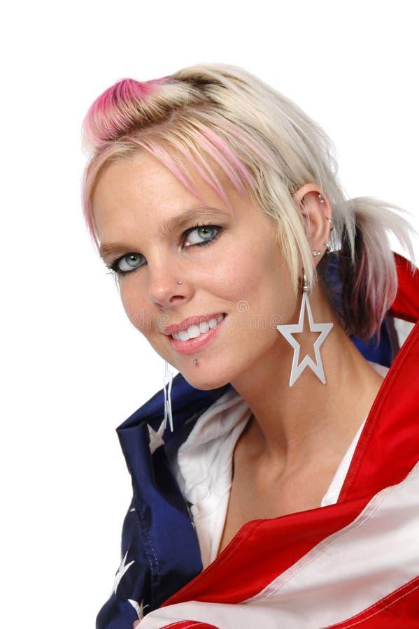 amerykańska piękna blondynka obrazy stock
