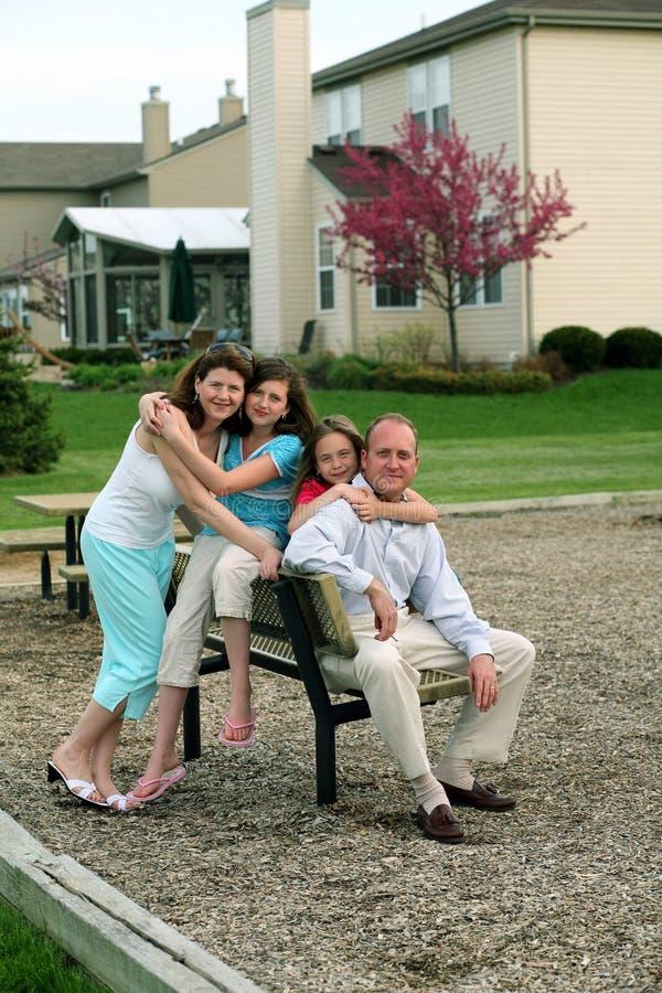 amerykańska rodzina zdjęcie stock