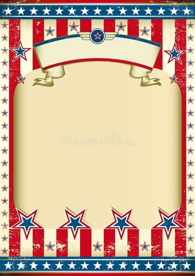 amerykańska tło flaga royalty ilustracja