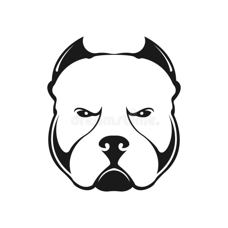 Amerykański łobuza psa logo obraz royalty free