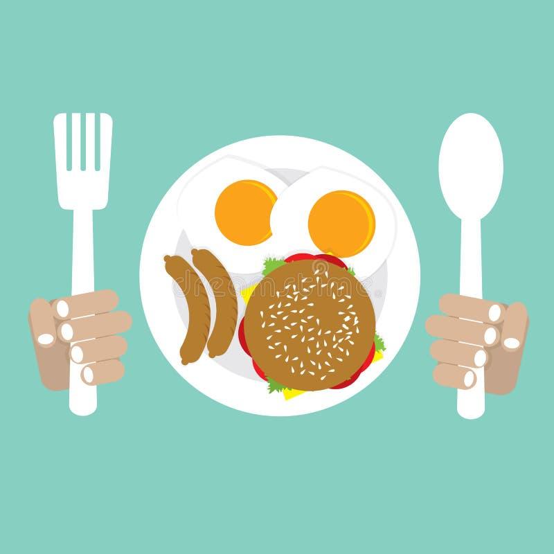Amerykański śniadanie ilustracji
