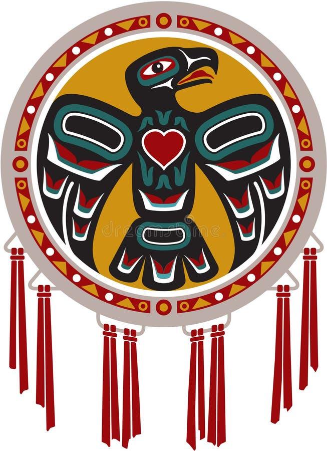 amerykański bębenu orła miejscowy royalty ilustracja