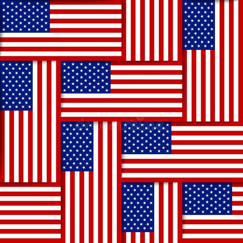Amerykański bezszwowy wzór zdjęcia stock