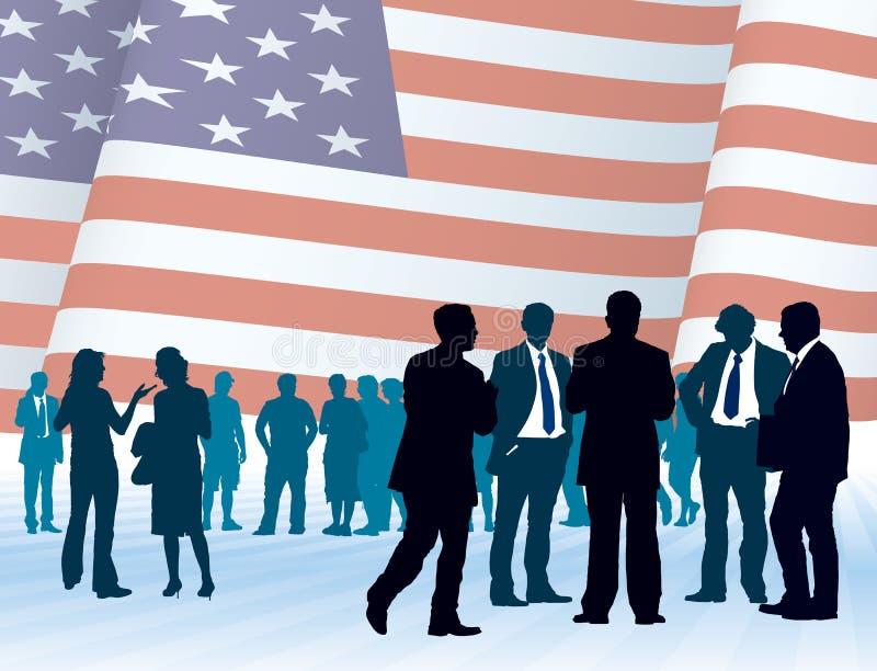 amerykański biznes ilustracja wektor