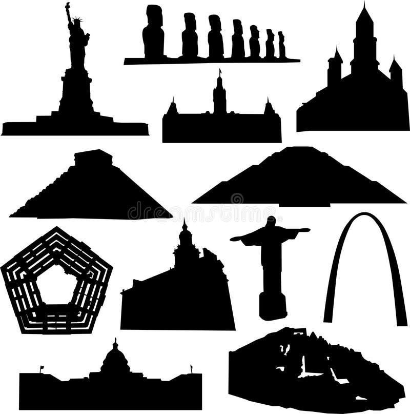 amerykański budynek royalty ilustracja