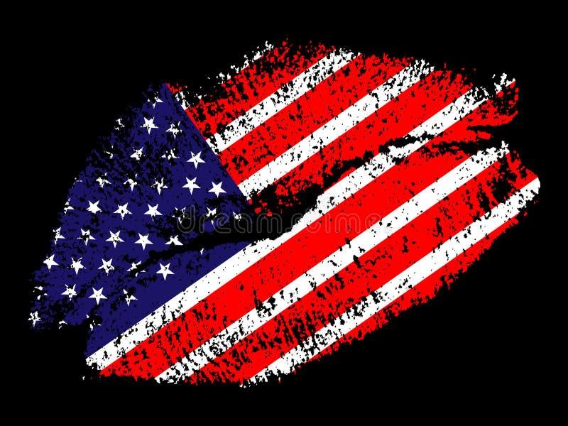 amerykański buziak ilustracji