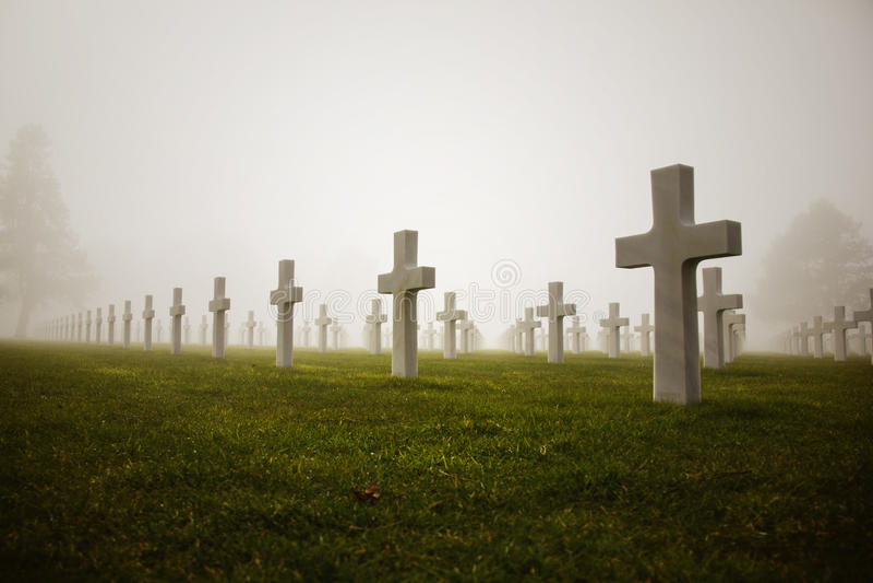 Amerykański cmentarz zdjęcia stock