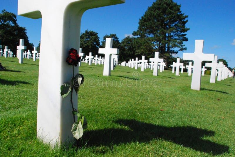 amerykański cmentarz zdjęcie stock