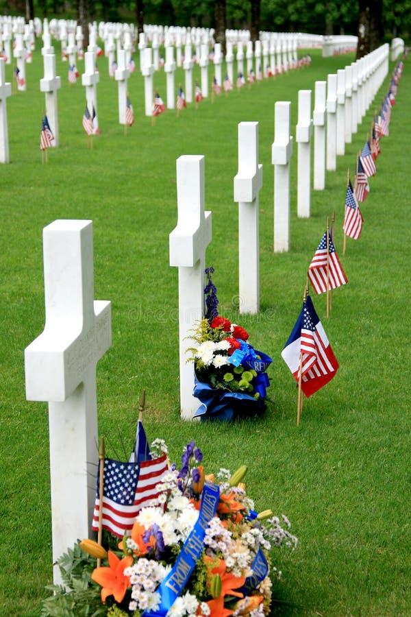 amerykański cmentarz wojskowy zdjęcie royalty free