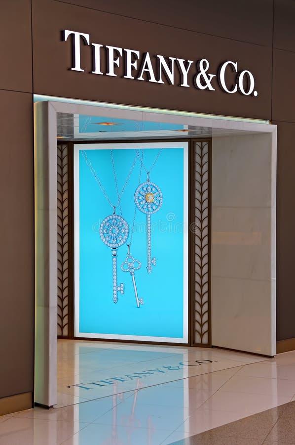 amerykański co firmy jewellery silverware tiffany sklepowy wejście obrazy stock