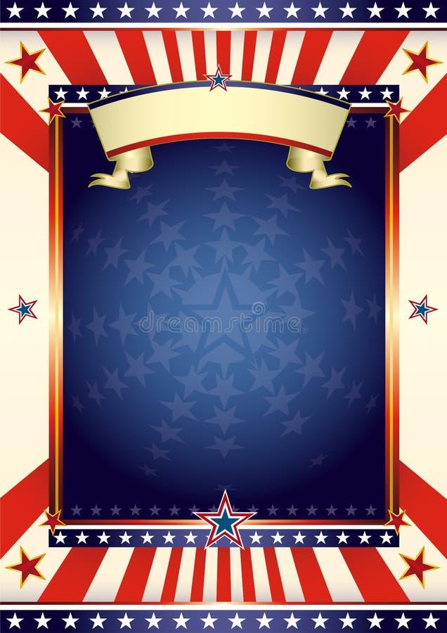 amerykański cool flaga royalty ilustracja