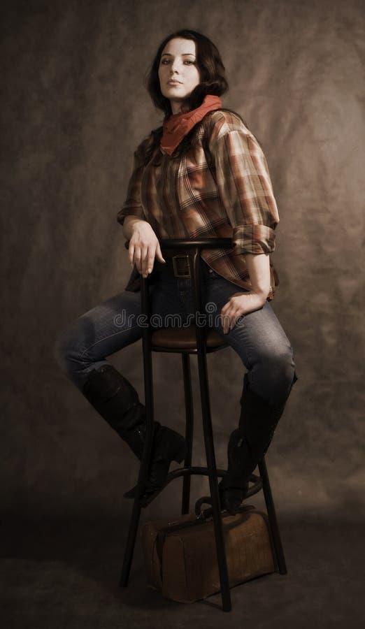 amerykański cowgirl obrazy royalty free