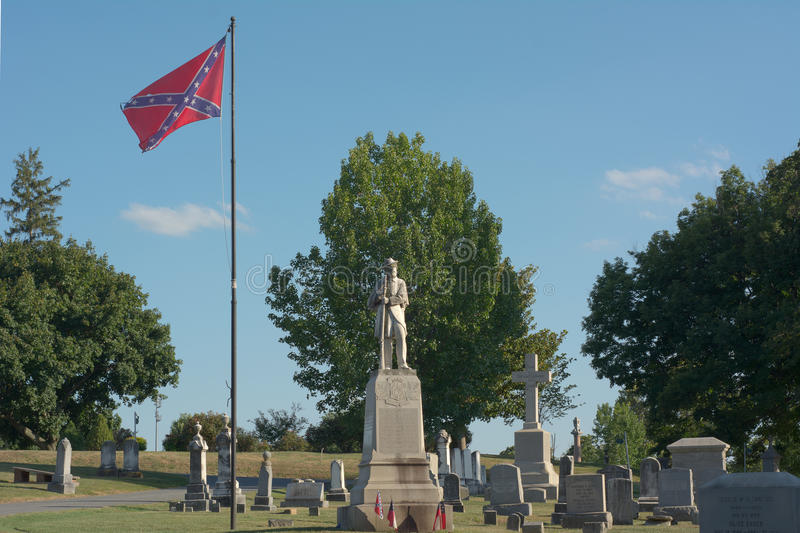 Amerykański Cywilnej wojny cmentarz zdjęcia royalty free