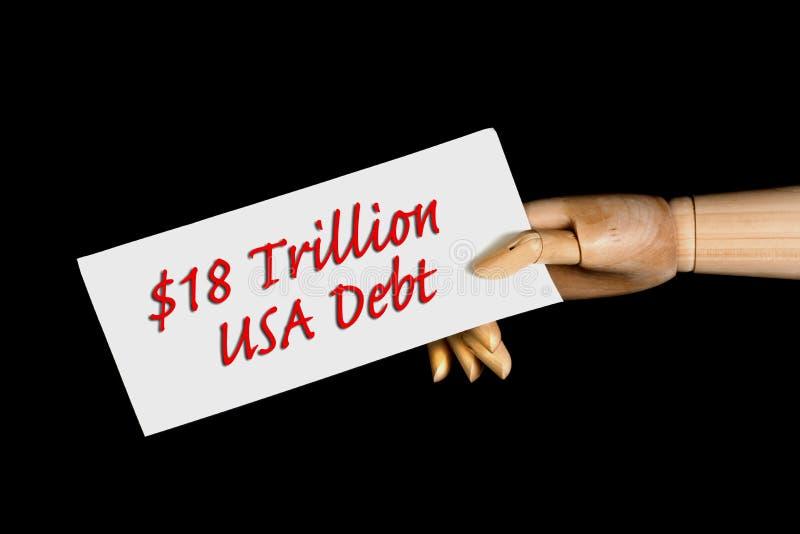 amerykański dług obrazy royalty free