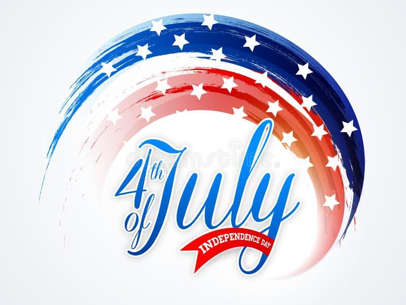 Download Amerykański Dnia Niepodległości świętowanie Z Eleganckim Tekstem Ilustracji - Ilustracja złożonej z amerykanin, eventide: 53778280