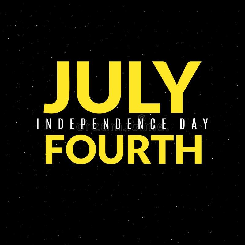 Amerykański dnia niepodległości sztandar royalty ilustracja