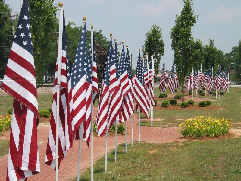 amerykański flagę zdjęcia stock