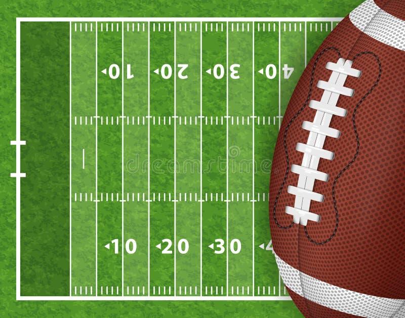 amerykański futbol pola ilustracja wektor
