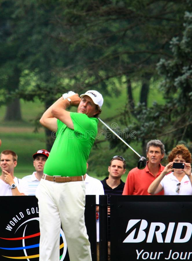 Amerykański golfista Pfil Mickelson fotografia royalty free