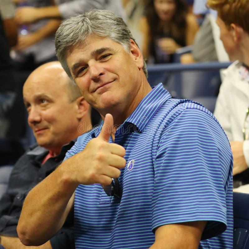 Amerykański gospodarz programu dyskusyjnego, autor i konserwatywny polityczny komentator Sean Hannity, uczęszczamy us open 2016 d fotografia royalty free