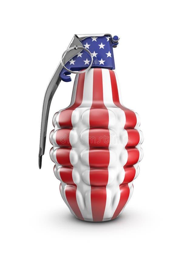 amerykański granat ilustracji