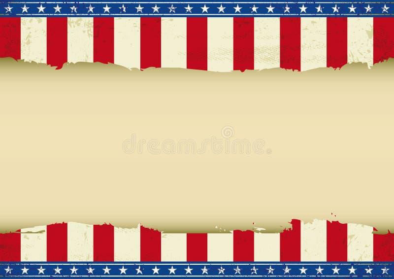 Amerykański horyzontalny tło ilustracji