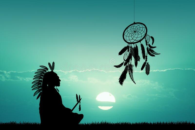 amerykański indianin lokalne ilustracji