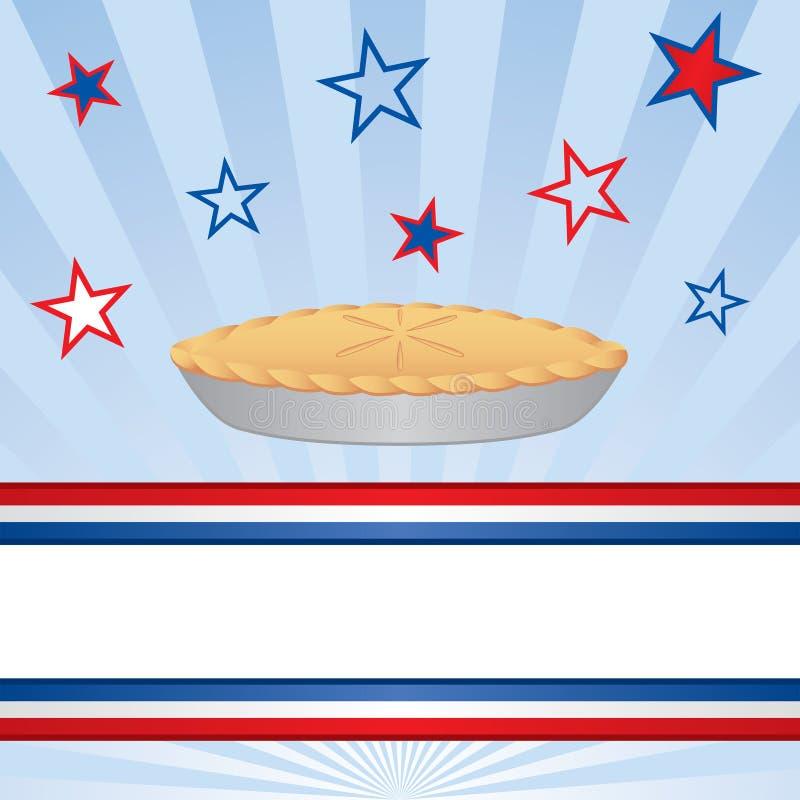 amerykański jabłczany kulebiak ilustracja wektor