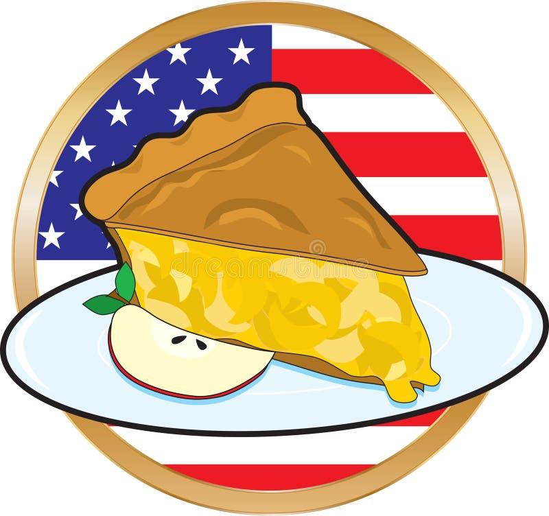amerykański jabłka flaga kulebiak royalty ilustracja