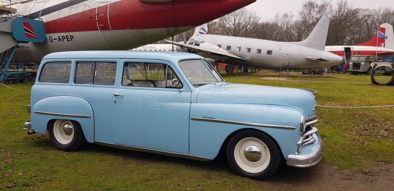 Amerykański klasyczny samochód Plymouth na spotkaniu 2020 fotografia royalty free