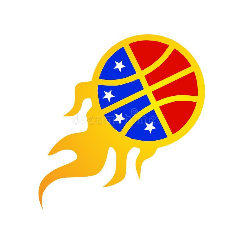 amerykański koszykówka logotyp ilustracji