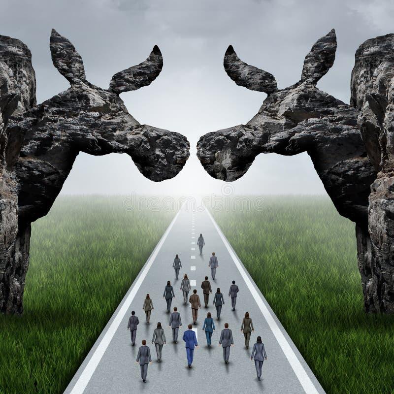 Amerykański Liberalny wybory pojęcie ilustracja wektor