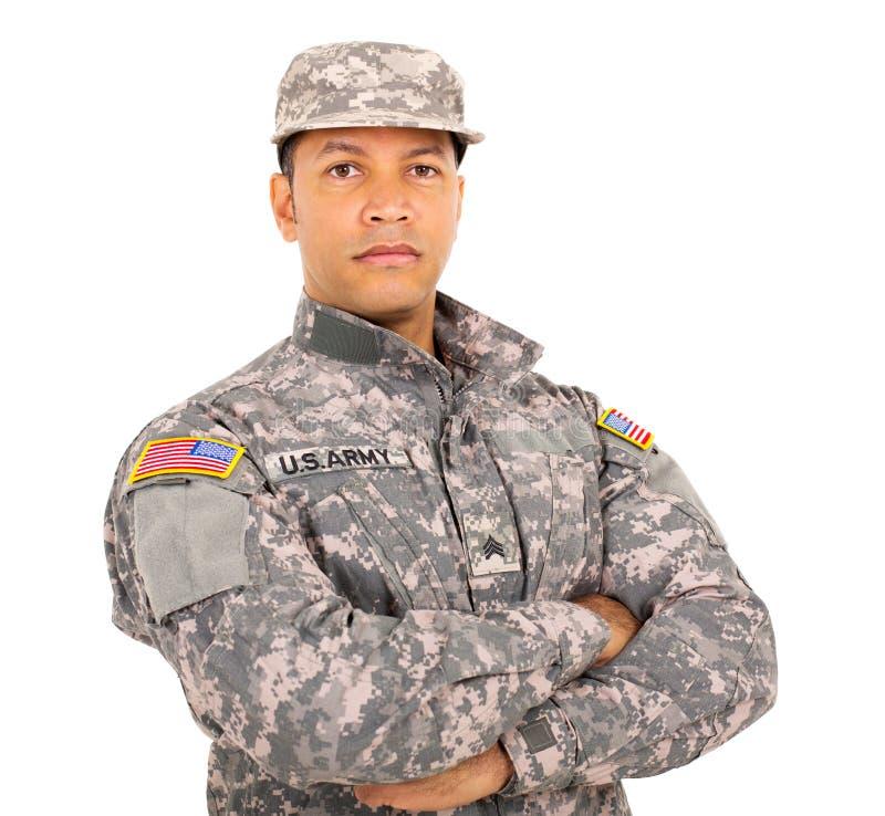 amerykański militarny żołnierz obrazy stock