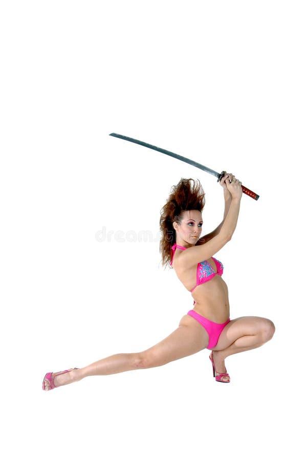 amerykański ninja tancerkę. zdjęcia royalty free