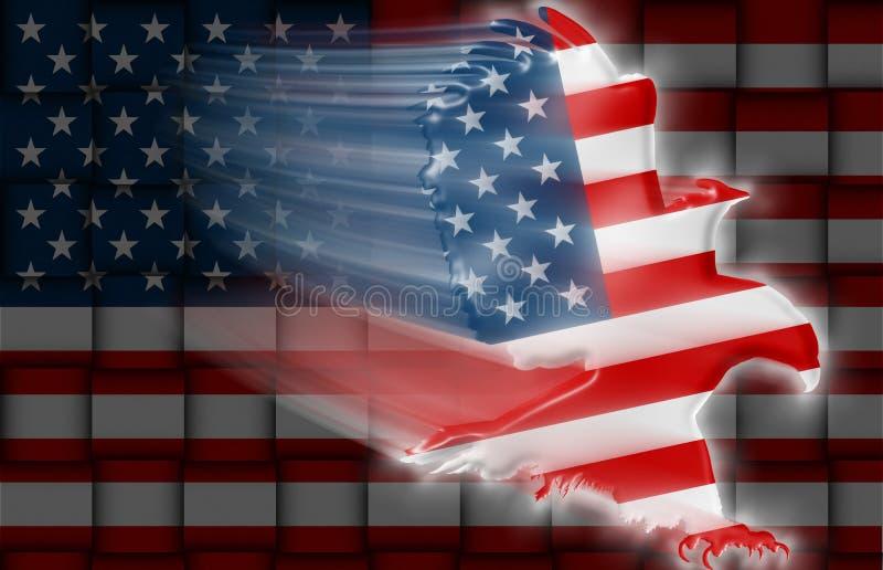 Amerykański Orła flaga tkactwo royalty ilustracja