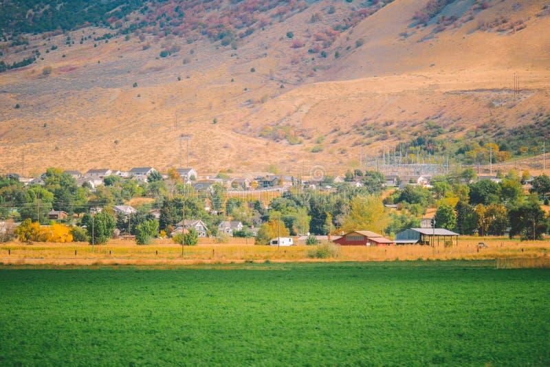 Amerykański Pastoralny krajobraz, silnik wiatrowy obrazy stock