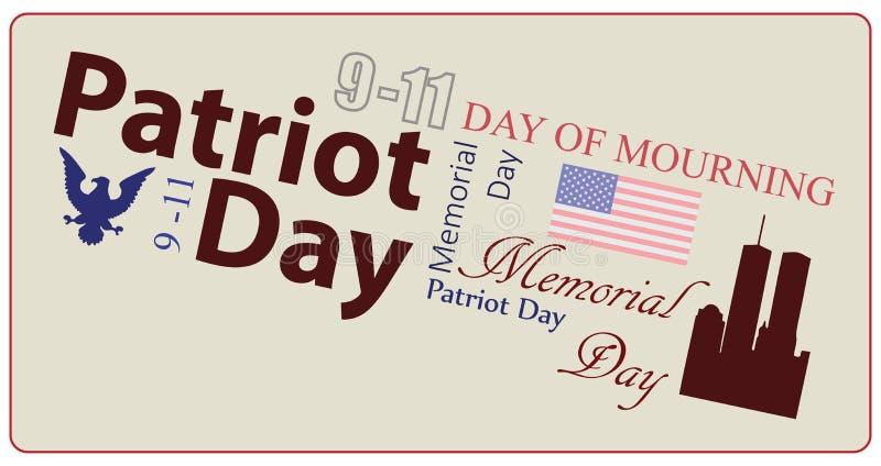 Amerykański patriota dzień royalty ilustracja