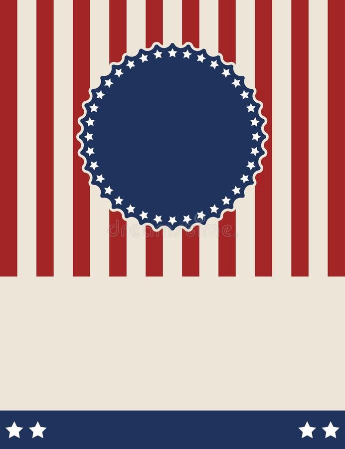 Amerykański patriotyczny rocznika stylu tła projekt royalty ilustracja