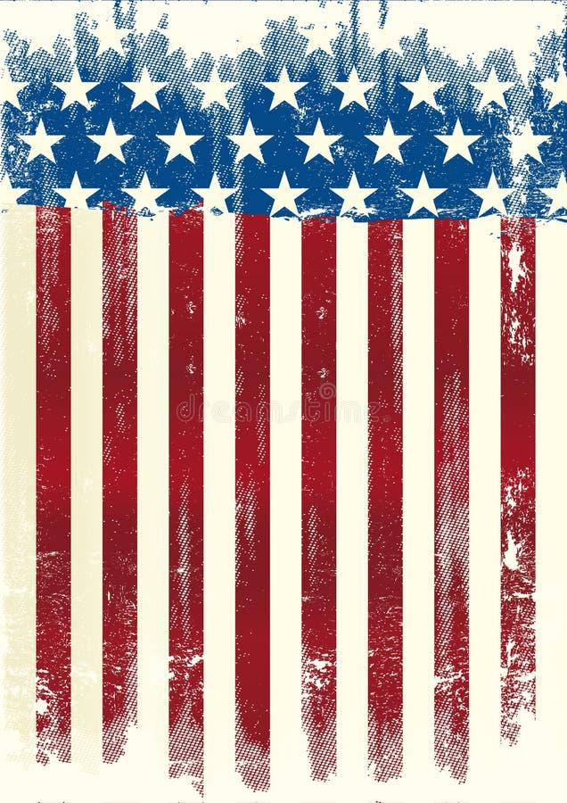 Amerykański plakat brudny ilustracja wektor