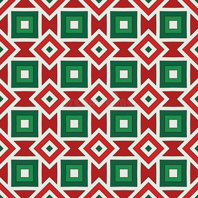 amerykański rodzimy tło Afrykanina stylu ornament Etniczny i plemienny motyw W Bożenarodzeniowych kolorach bezszwowy wzór ilustracji