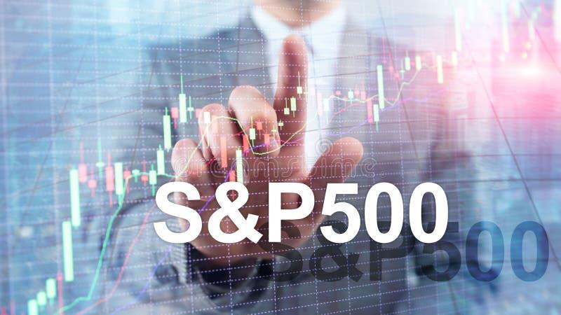 Amerykański rynek papierów wartościowych wskaźnik S P 500 - SPX Pieniężny Handlarski Biznesowy pojęcie zdjęcie stock