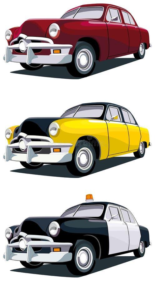amerykański samochodowy rocznik ilustracji