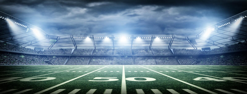 Amerykański stadium piłkarski royalty ilustracja