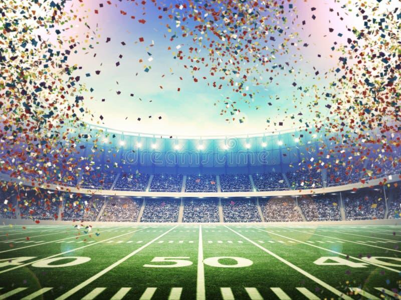 Amerykański stadium piłkarski ilustracji