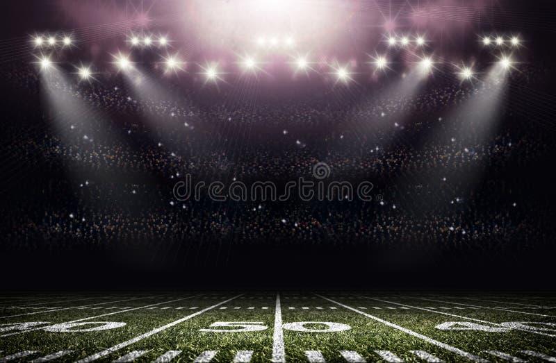 Amerykański stadium piłkarski ilustracja wektor